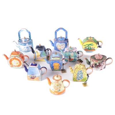Charlotte di Vita Collections Enameled Miniature Teapots, 21st Century