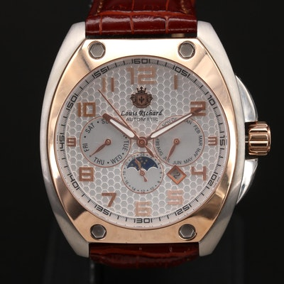 Louis Richard Stainless Steel Automatic Wristwatch