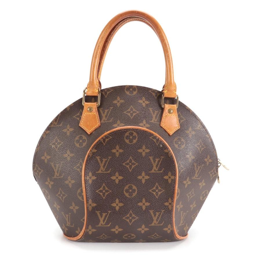 Louis Vuitton Ellipse PM Bag in Monogram Canvas and Vachetta Leather