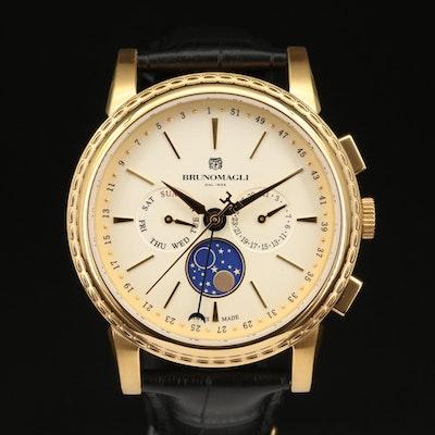 Bruno Magli Luna Pienna Gold Tone Stainless Steel Quartz Wristwatch