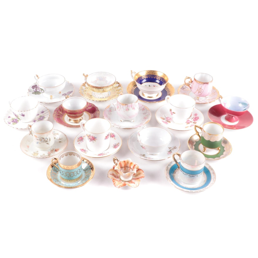 Lefton, Paragon and Other Bone China and Porcelain Tea Cups and Saucers