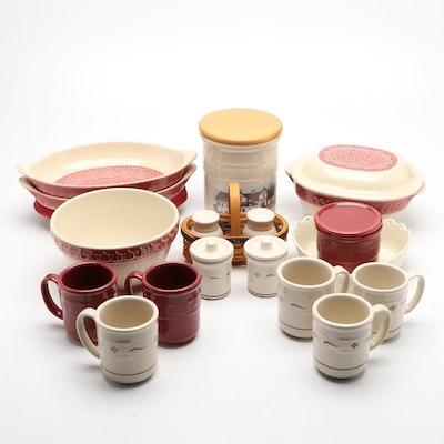 Longaberger Pottery Ceramic Tableware and Mugs