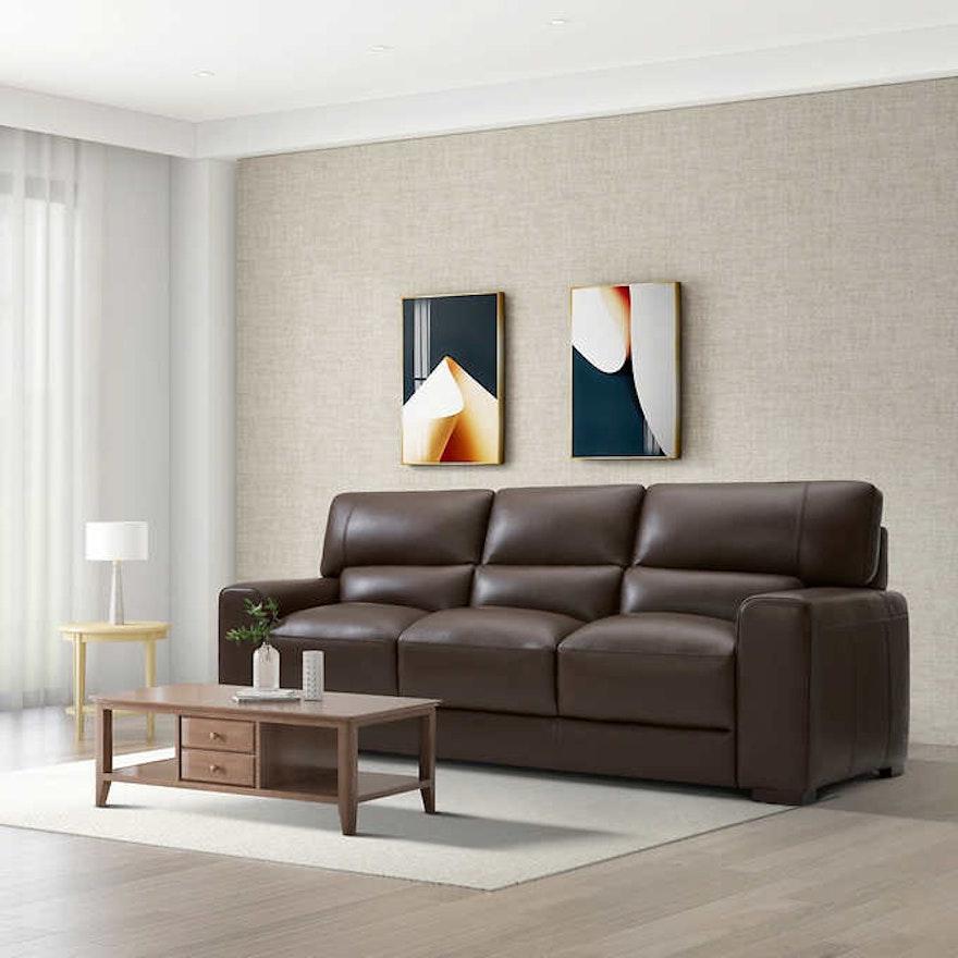 "Gilman Creek ""Rawlins"" Three-Seat Leather Sofa"