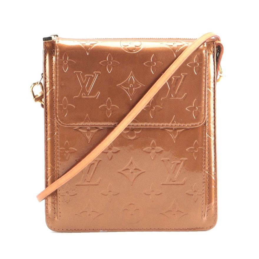 Louis Vuitton Mott Bag in Bronze Monogram Vernis Leather