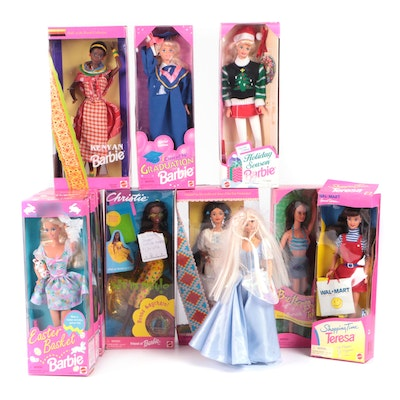 """Barbie Collection with """"Shopping Time Teresa"""", """"Kenyan Barbie"""" and Others"""