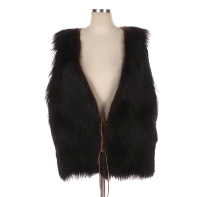 Handcrafted Black Bear Fur Vest