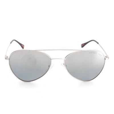 Prada SPS 50S Polarized Aviator Sunglasses