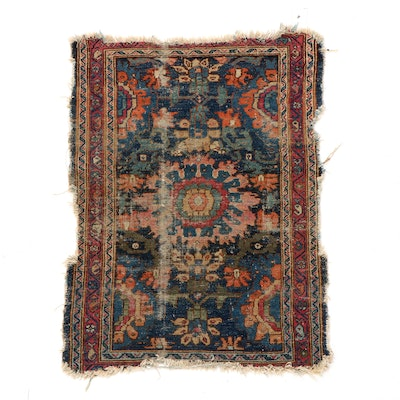 2'6 x 3'7 Hand-Knotted Persian Bakhtiari Rug, Early 20th Century