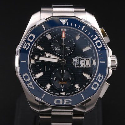 TAG Heuer Aquaracer Calibre 16 Chronograph Stainless Steel Wristwatch