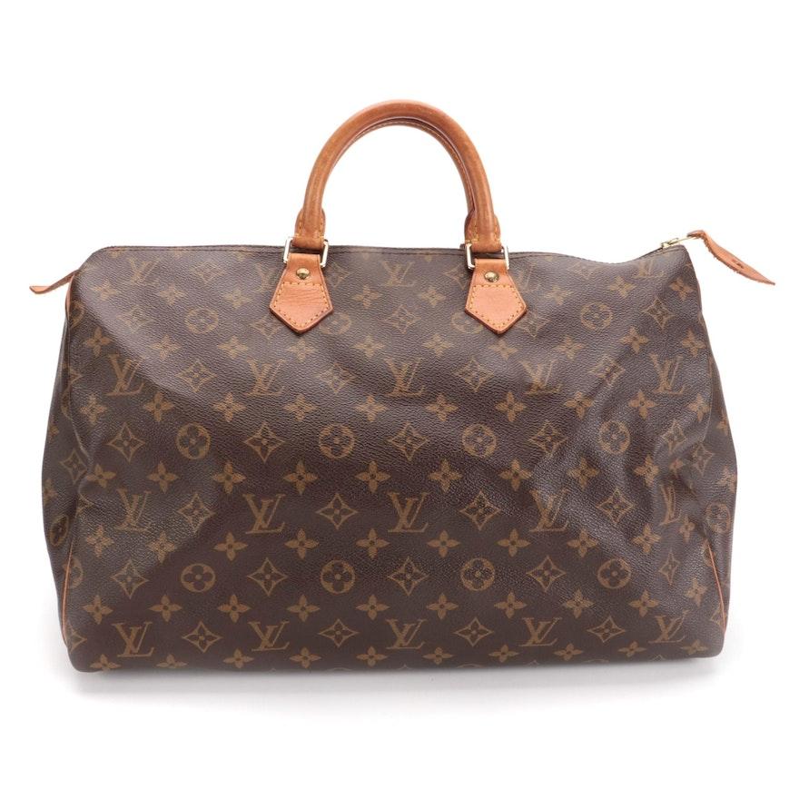 Louis Vuitton Speedy 40 in Monogram Canvas and Vachetta Leather