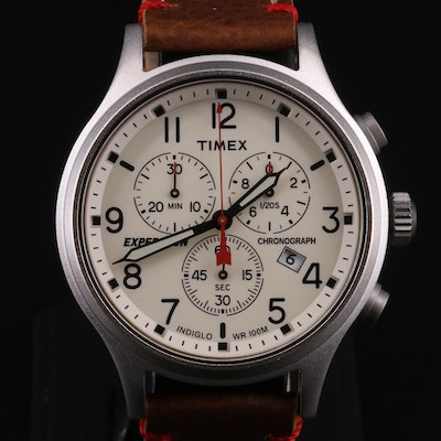 Timex Expedition Chronograph Stainless Steel Wristwatch