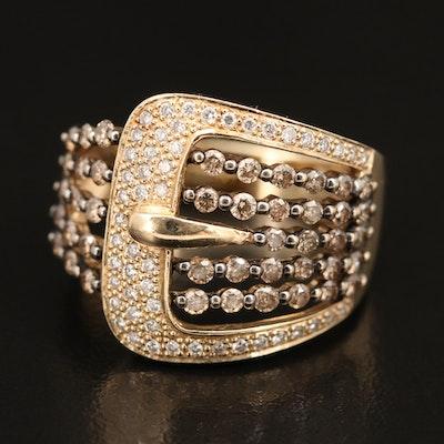 Le Vian 14K 1.14 CTW Diamond Buckle Ring