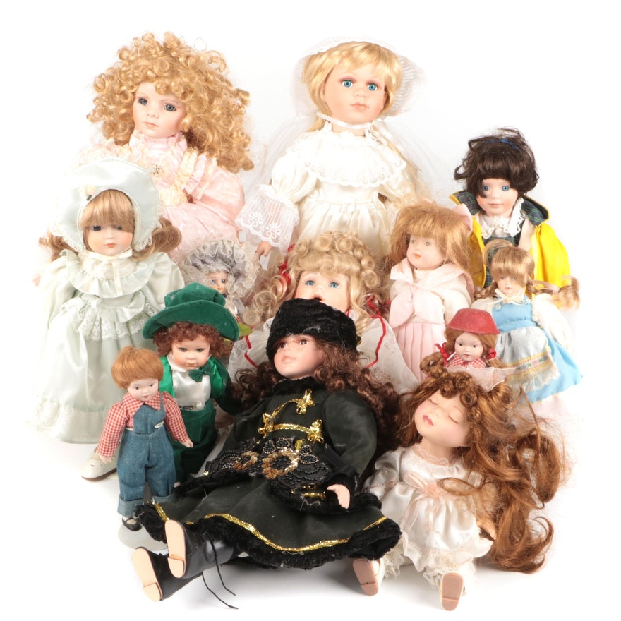 Collectible Porcelain and Composite Dolls
