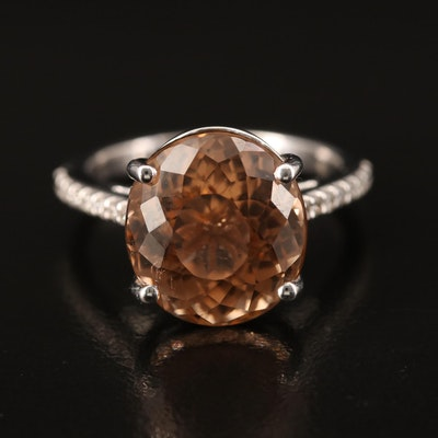 14K 9.64 CT Tourmaline and Diamond Ring
