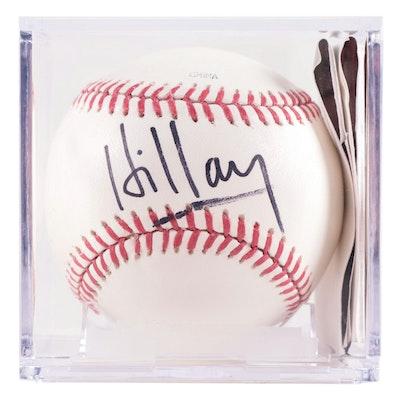 Hillary Clinton Signed Rawlings Major League Baseball, COA