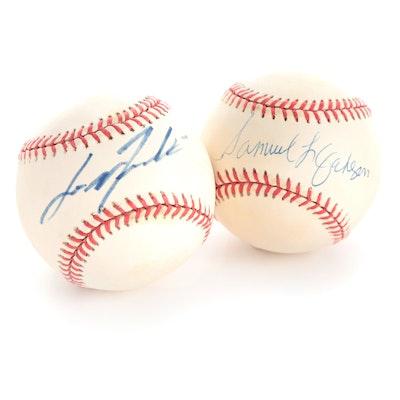 John Travolta and Samuel L. Jackson Signed Rawlings National League Baseballs