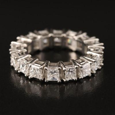 Platinum 4.45 CTW Diamond Eternity Band