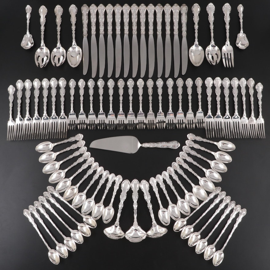"""Gorham """"Strasbourg"""" Sterling Silver Flatware and Utensils, Mid to Late 20th C."""
