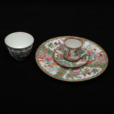 Chinese Rose Medallion Plate, and Other Tableware