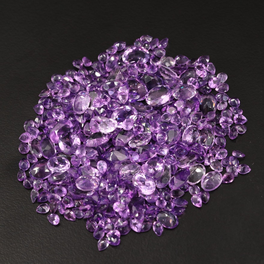 Loose 91.08 CTW Faceted Amethysts