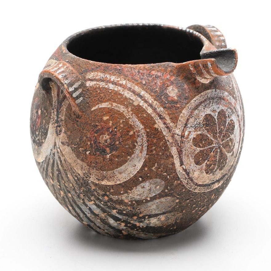 George Lioulias Greek Museum Copy of Cretan Ceramic Vase