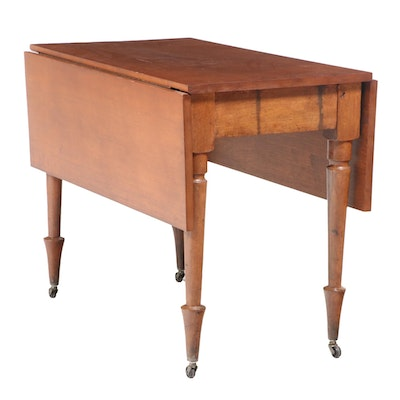 American Primitive Drop-Leaf Table, 19th Century and Later