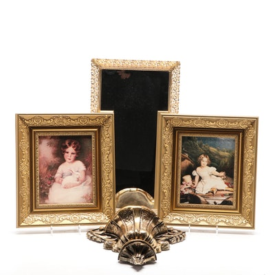 Academic Style Reproduction Prints, Mirror and Wall Plaque