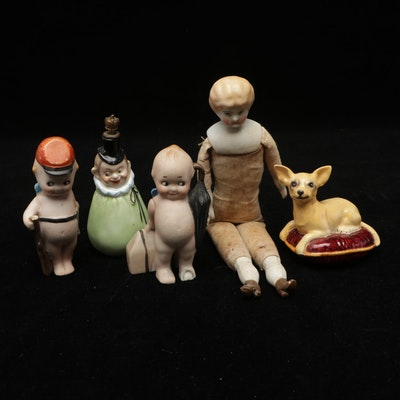 Victorian Highland Mary, Beswick Porcelain Dog , Kewpie Type and Other Figures