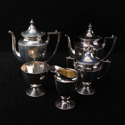 Georgian Style Homan Silver Plate Tea Set, Early 20th Century