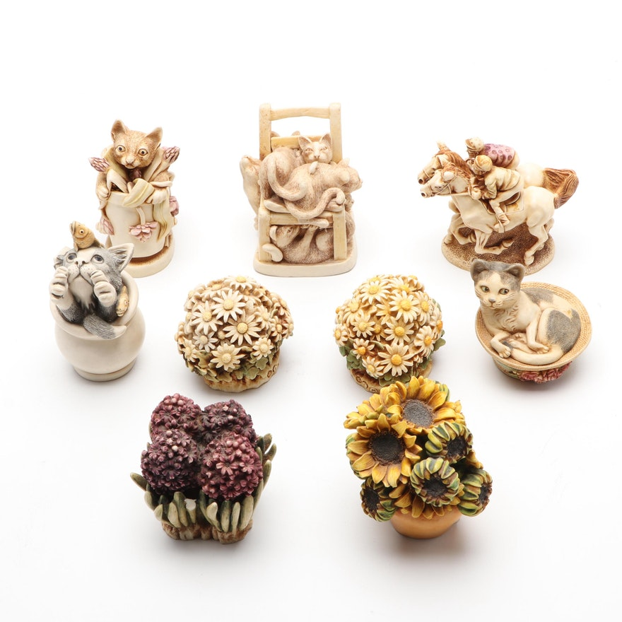 Harmony Kingdom and Harmony Garden Figural Trinket Boxes