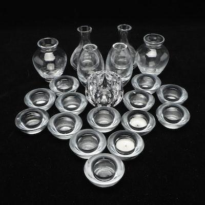 Glass and Crystal Bud Vases and Votives Including Dansk