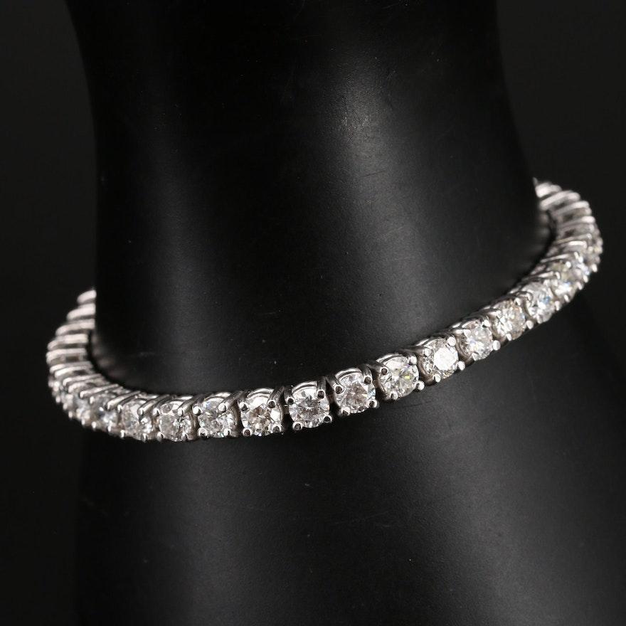 14K 11.52 CTW Diamond Line Bracelet