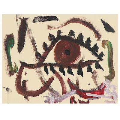 Robert Wright Abstract Acrylic Painting of Eye