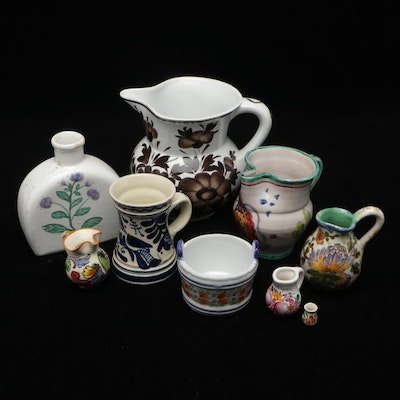 Henriot Quimper with Italian, Dutch and Other Ceramic Vases and Pitchers