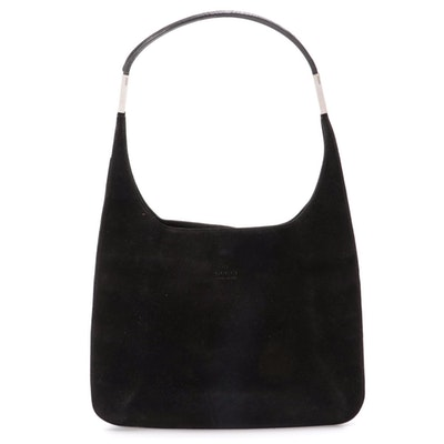 Gucci Hobo Bag in Black Suede