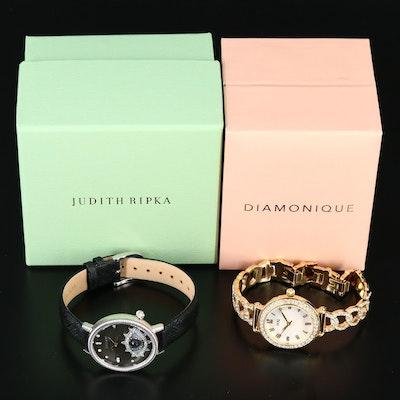 "Judith Ripka ""Evil Eye"" and Diamonique ""Pavé Chain Link"" Wristwatches"