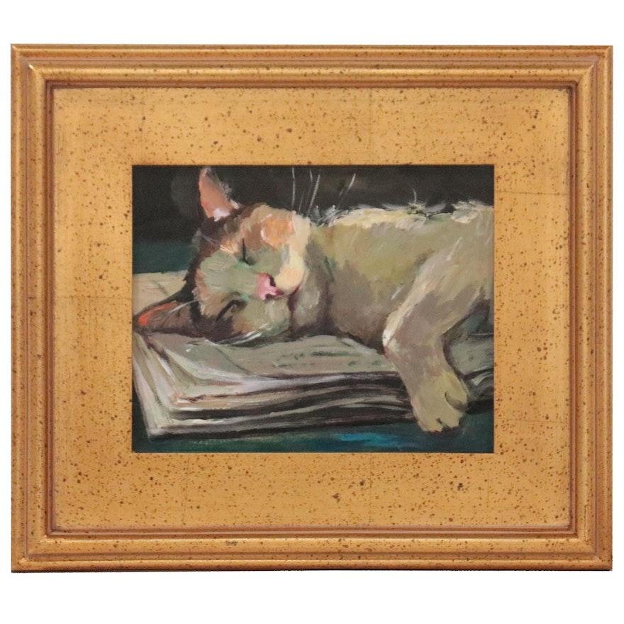 "Adam Deda Oil Painting ""The Reader,"" 2021"