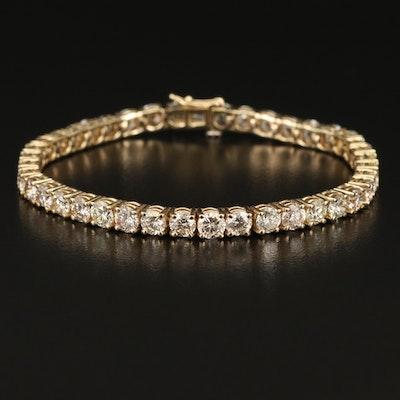 14K 12.40 CTW Diamond Line Bracelet
