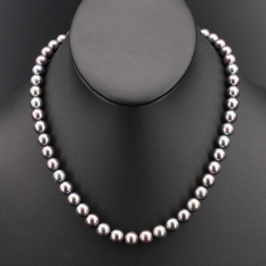 South Sea Pearl Necklace with Flower Clasp