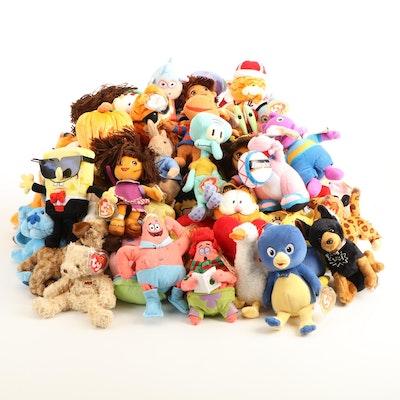 "Ty Pop Culture Beanie Babies Including ""Spongebob Squarepants"" and ""Garfield"""
