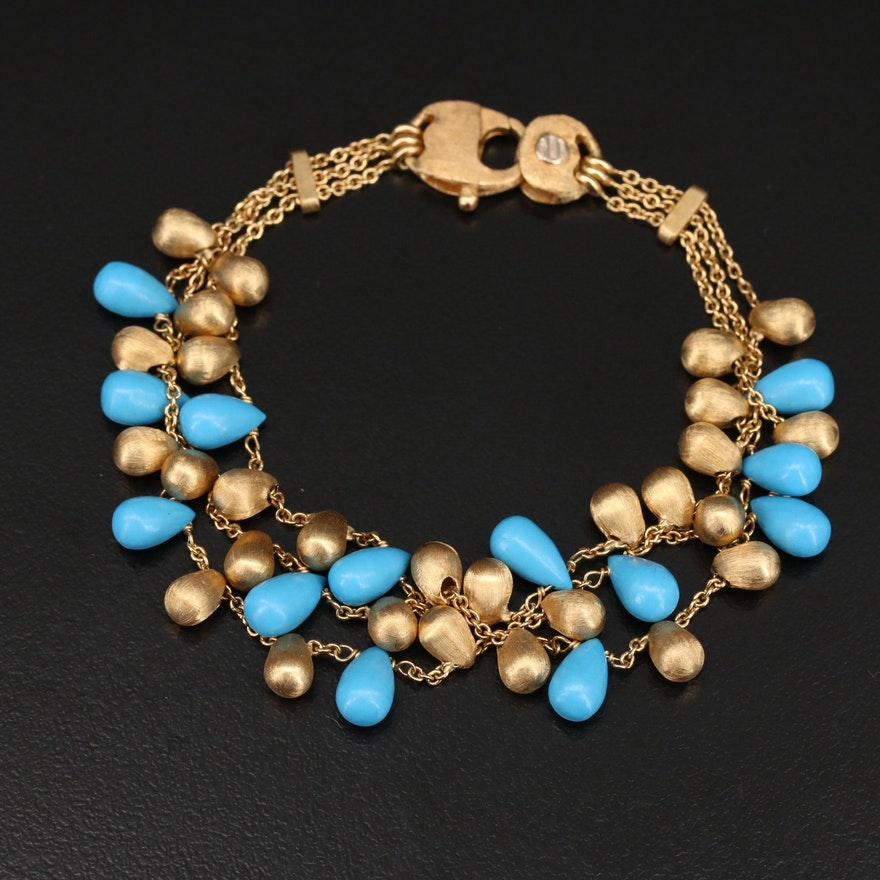 """Marco Bicego """"Acapulco"""" 18K Multi-Strand Bracelet"""