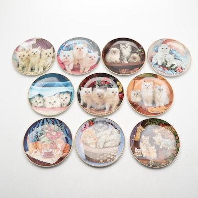 Bradford Exchange Porcelain Limited Edition Kitten Collector's Plates