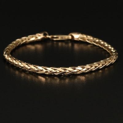Italian 14K Wheat Chain Bracelet
