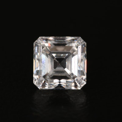 Loose 1.60 CT Square Emerald Cut Diamond with GIA Report