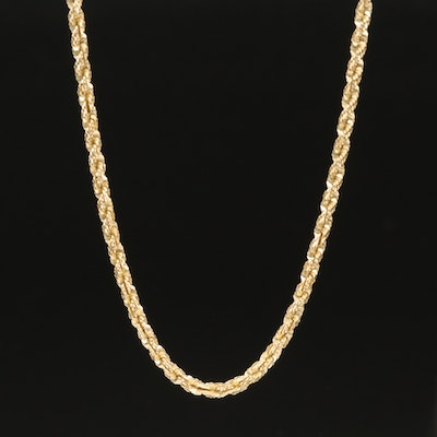 14K Tinsel Chain Necklace