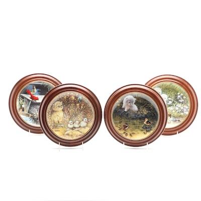 Framed Bradford Exchange Porcelain Limited Edition Kitten Collector's Plates