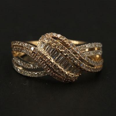 EFFY 14K WHITE & YELLOW GOLD DIAMOND RING