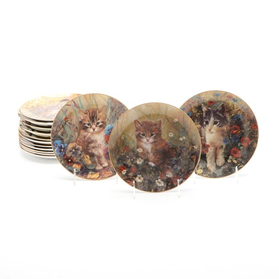 Royal Doulton Porcelain Limited Edition Kitten Collector's Plates