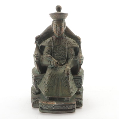 Chinese Cast Resin Ancestor Figure
