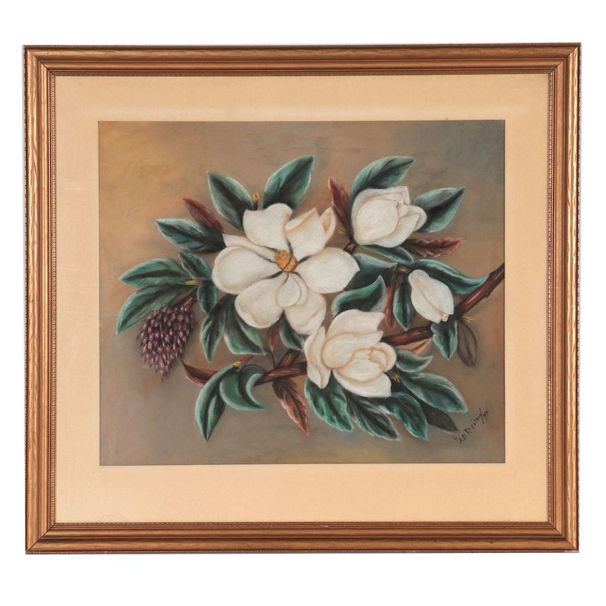 Pastel Drawing of Magnolias, 1949